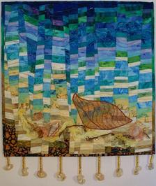 """A Small Whale's Tale"" art quilt"