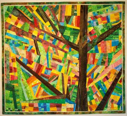 """And The Tree Spoke"" Art Quilt"